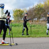 Beginners' roller ski course